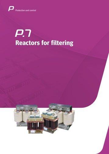 P.7 - Reactors for filtering - Circutor