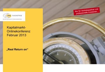Real Return on - ADIG Fondsvertrieb GmbH