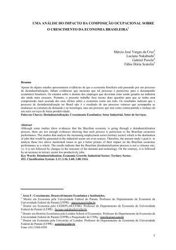 análise do impacto da composição ocupacional - Anpec