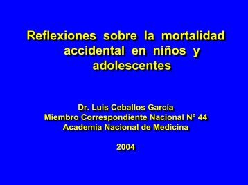 Reflexiones sobre la mortalidad accidental en niños y adolescentes