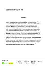 Company Profile EcorNaturaSì 2012