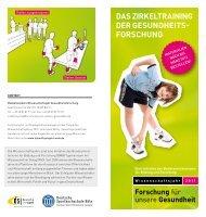 Der Info-Flyer zum Zirkeltraining (PDF) - Wissenschaftsjahr ...