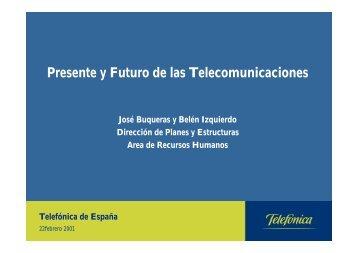 Presente y Futuro de las Telecomunicaciones - TCM-UGT CyL