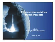 Russian space activities p and its prospects - CII National ...