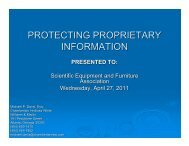 protecting proprietary information - Scientific Equipment and ...