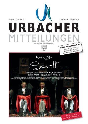 Die Kirchen berichten - Gemeinde Urbach