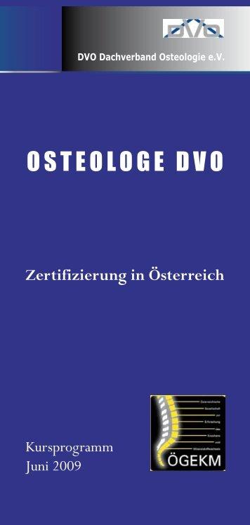 Programm DVO Juni 2009 - Österreichische Gesellschaft für ...