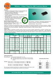 TM Series • 10 Base-T Single Port SMD Transformer ... - Talema India