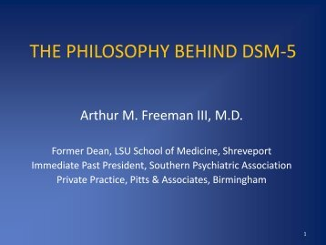 The Philosophy Behind the DSM-5