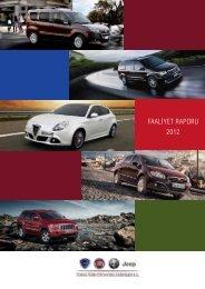 FAALİYET RAPORU 2012 - Tofaş