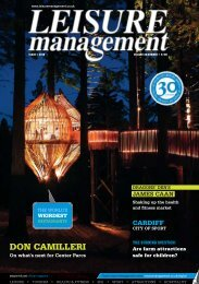 Leisure Management Issue 1 2010 - Leisure Opportunities