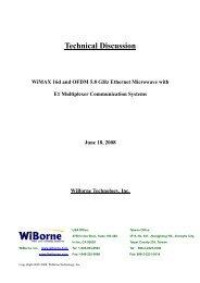 WiMAX 16d / OFDM 5.8GHz and E1 Mux - WiBorne.com