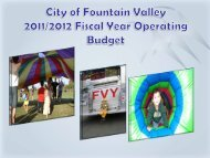 Budget Brief 2011-2012 - City of Fountain Valley