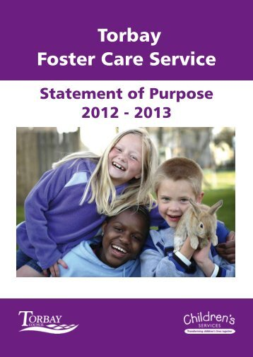 Foster Care Service - Statement of Purpose 2012/13 - Torbay Council