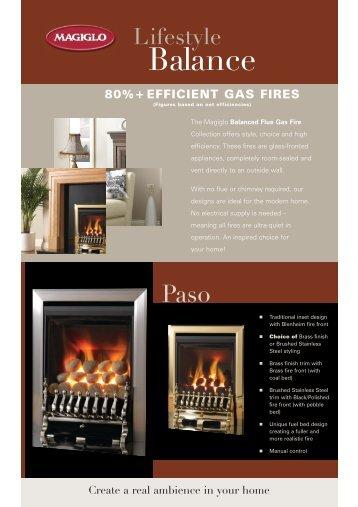 Download the Magiglo balanced flue gas fire brochure ... - Betta Heat