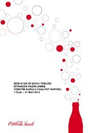 2013 Birinci Çeyrek Faaliyet Raporu - Coca Cola İçecek