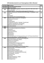 DFG-Geräteverzeichnis und -Nutzungsdauer
