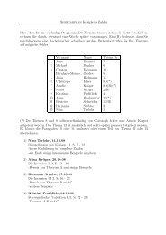 Seminarplan Komplexe Zahlen Hier sehen Sie das vorläufige ...