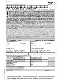 Antrag auf Lohnsteuer-Ermäßigung 2013