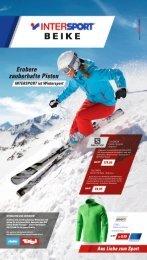 Wintersportartikel reduziert bei Intersport Beike