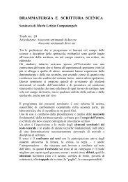 Programma - Dipartimento di Storia dell'Arte e Spettacolo