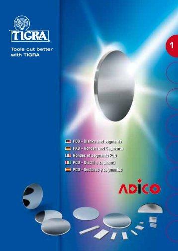 PCD - Blanks and segments PKD - Ronden und Segmente ... - Tigra