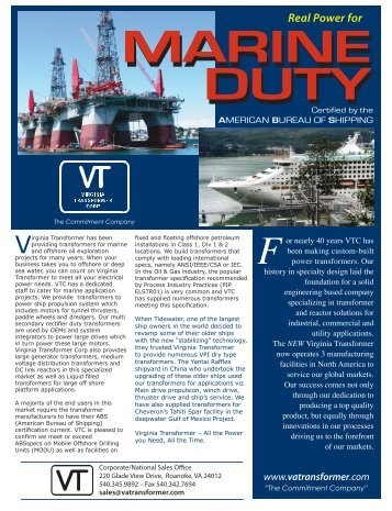 Offshore - Virginia Transformer Corp