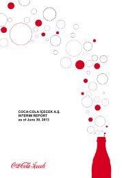 COCA-COLA İÇECEK A.Ş. INTERIM REPORT as of June 30, 2013