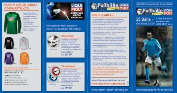 www.fussbaelle-fuer-alle.de www.ernst-prost-stiftung.de - Liqui Moly