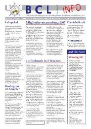Mitgliederversammlung 2007 4 x Einbruch in 2 Wochen - Lahn, BCL ...