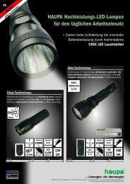 HAUPA Hochleistungs-LED-Lampen für den täglichen Arbeitseinsatz
