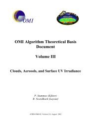 OMI Algorithm Theoretical Basis Document - NASA's Earth ...