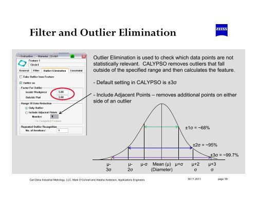 Filter and Outlier Elimin