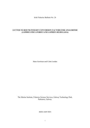 No26 Irish Fisheries Bulletin.pdf - Marine Institute Open Access ...