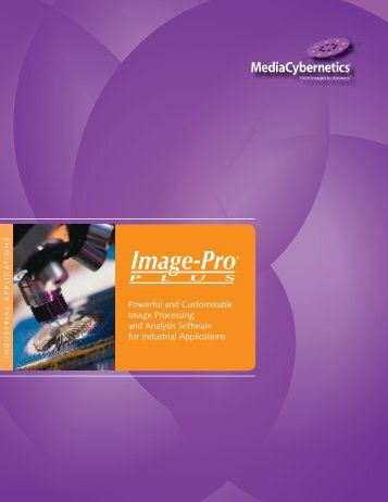 Industrial Applications Brochure - Media Cybernetics