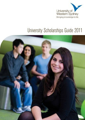 University Scholarships Guide 2011 - University of Western Sydney