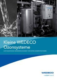 Kleine WEDECO Ozonsysteme - Water Solutions