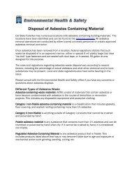 Disposal of Asbestos Containing Material