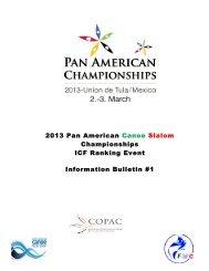 2013 Pan American Canoe Slalom Championships ICF Ranking ...