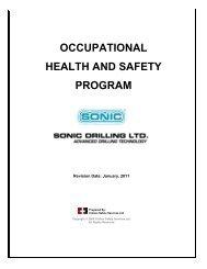 Health & Safety Program Template - Sonic Drilling Ltd.