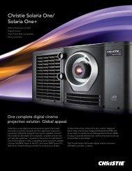 Christie Solaria One/ Solaria One+ - Christie Digital Systems