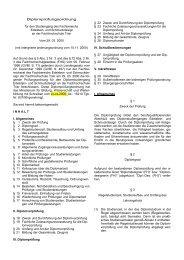Diplomprüfungsordnung für den Studiengang ... - Hochschule Trier