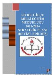 Stratejik Plan - Sivrice - Milli Eğitim Bakanlığı