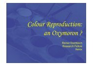 Colour Reproduction: an Oxymoron ? - CFPR at UWE : Create!
