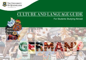 CULTURE AND LANGUAGE GUIDE - University of Queensland