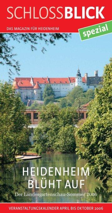 Heidenheim blüht auf - der Landesgartenschau ... - Schlossblick