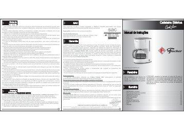 Manual do produto - Fischer