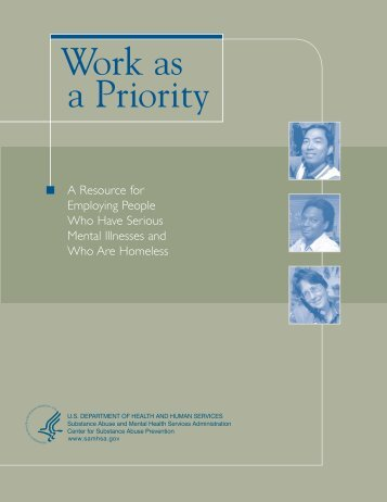 Work as a Priority - SAMHSA Store - Substance Abuse and Mental ...