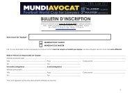 Bulletin d'Inscription Francais - Mundiavocat