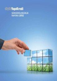 SÜRDÜRÜLEBİLİRLİK RAPORU 2012 - Yapı Kredi
